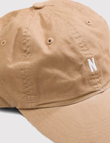Norse Projects Twill Curved Peak Cap - Khaki