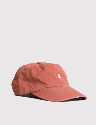Norse Projects Twill Curved Peak Cap - Fusion Pink