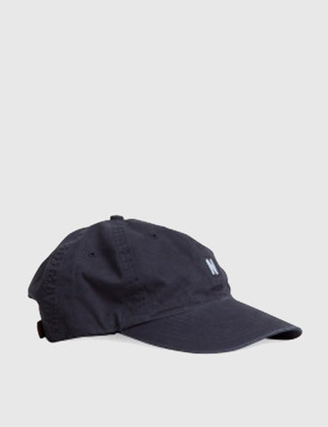 Norse Projects Twill Curved Peak Cap - Navy