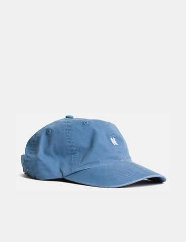 Norse Projects Twill Curved Peak Cap - Marginal Blue