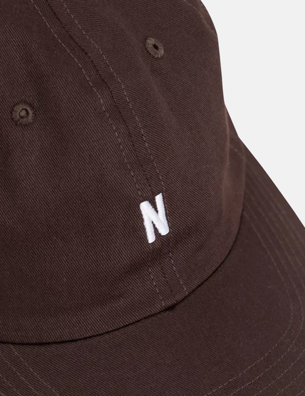 ba49372415f ... Norse Projects Twill Sports Cap - Eggplant Brown ...