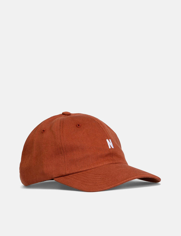 Casquette de sport en sergé Norse Projects - Madder Brown