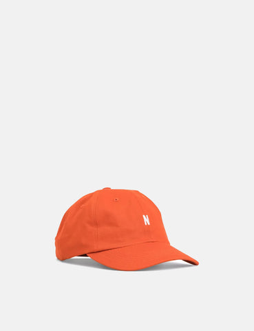 Norse Projects Twill Sports Cap - Oxide Orange