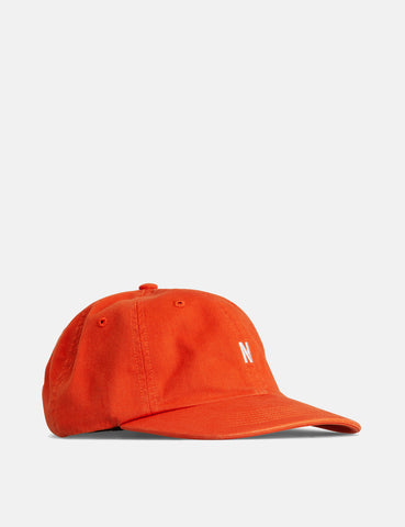Norse Projects Twill Sports Cap - Pumpkin Orange