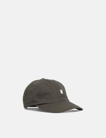 Norse Projects Twill Sports Cap - Sitka Green
