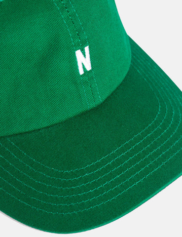 Norse Projects Twill Sports Cap - Sporting Green