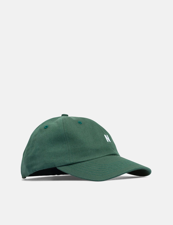 Norse Projects Twill Sports Cap - Dartmouth Green