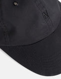 Norse Projects Wax Cotton Sports Cap - Boot Black