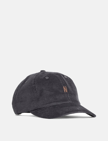 Norse Projects Thin Cord Sports Cap - Charcoal