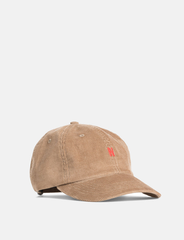 Norse Projects Thin Cord Sports Cap - Camel