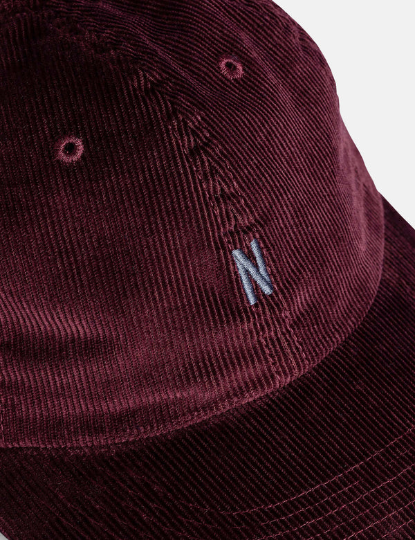 Norse Projects Thin Cord Sports Cap - Mulberry Red