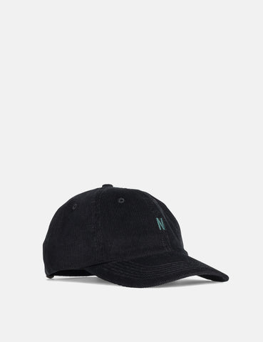 Norse Projects Thin Cord Sports Cap - Boot Black
