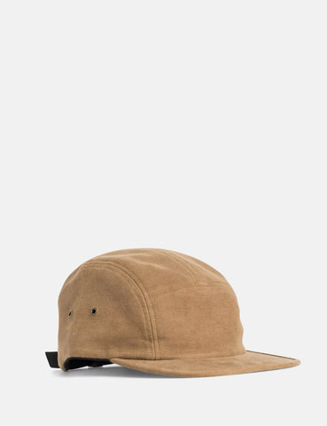 Norse Projects Moleskin 5 Panel Cap - Caramel Brown