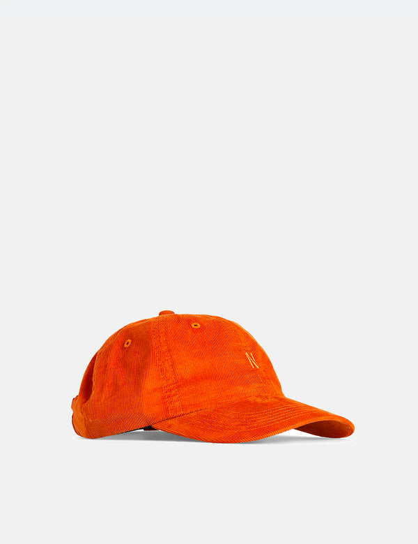 Norse Projects Baby Corduroy Sports Cap - Cadmium Orange
