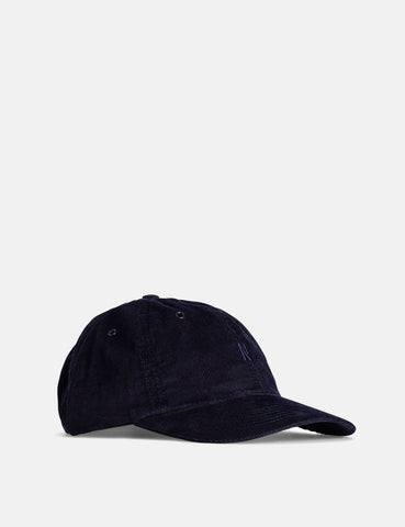 Norse Projects Baby Corduroy Sports Cap - Dark Navy Blue
