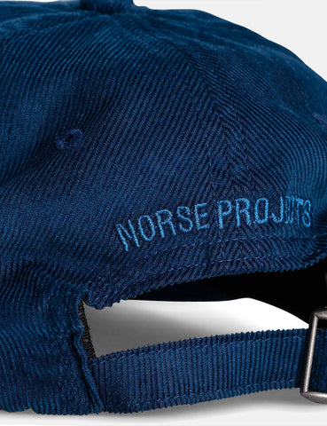 Norse Projects Baby Corduroy Sports Cap - Twilight Navy Blue