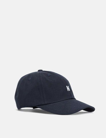 Norse Projects Seersucker Stripe Sports Cap - Dark Navy Blue