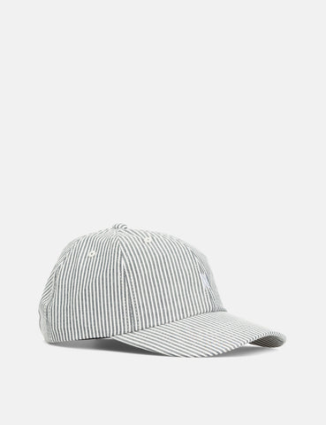 Norse Projects Seersucker Stripe Sports Cap - Navy Blue