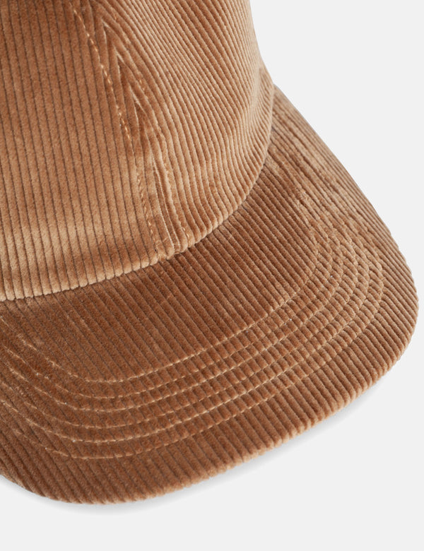Norse Projects Wide Wale Cord Sports Cap - Utility Khaki