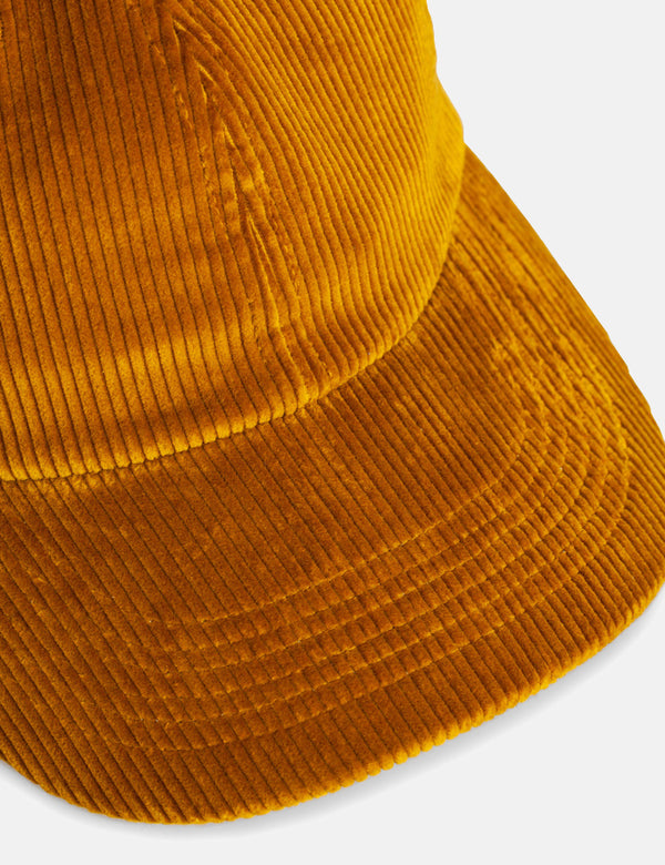 Norse Projects Wide Wale Cord Sports Cap - Montpellier Yellow