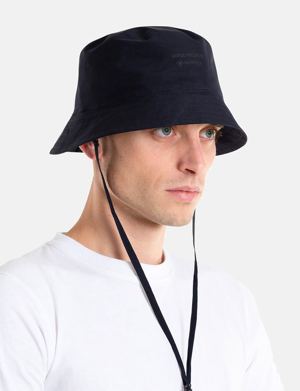 Norse Projects Gore Tex Bucket Hat - Dark Navy Blue