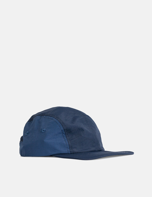 Norse Projects Nylon 4 Panel Cap - Dark Navy Blue