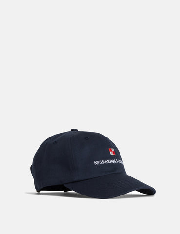 Norse Projects Coordinates Sports Cap - Dark Navy Blue