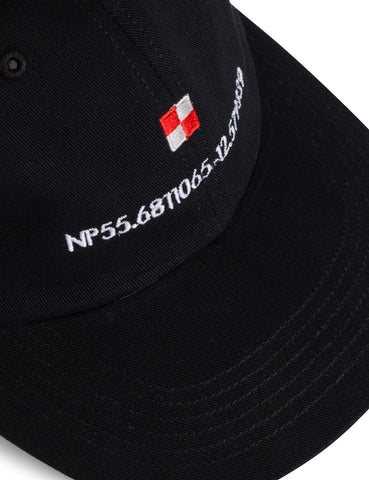 Norse Projects Coordinates Sports Cap - Black