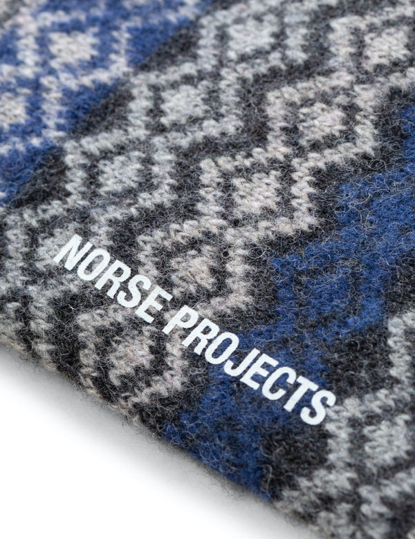 Norse Projects Bjarki Fairisle Socks - Charcoal Melange