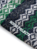 Norse Projects Bjarki Fairisle Socks - Dark Navy Blue