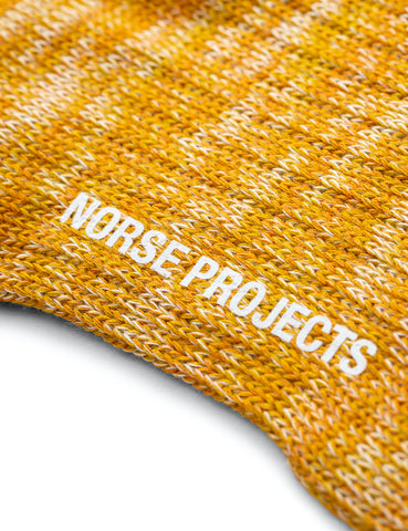 Norse Projects Bjarki Blend Socks - Montpellier Yellow