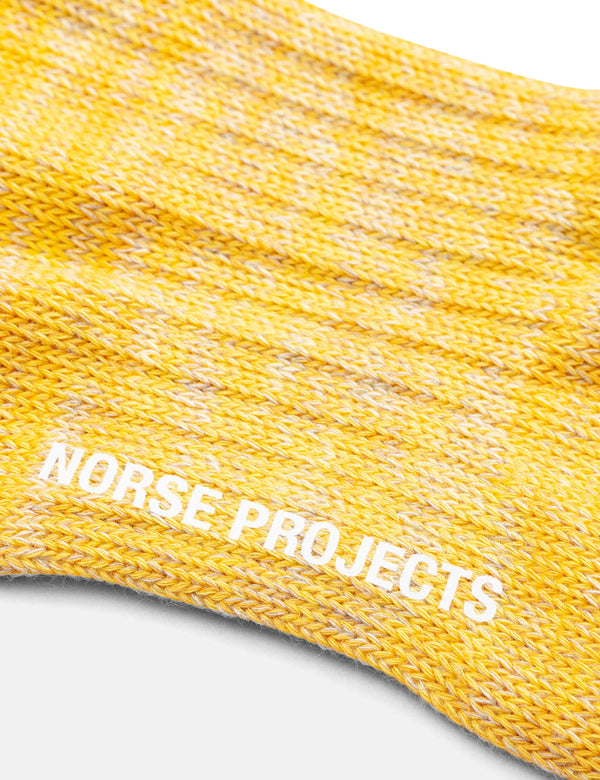 Norse Projects Bjarki Blend Socks - Sunrise Yellow