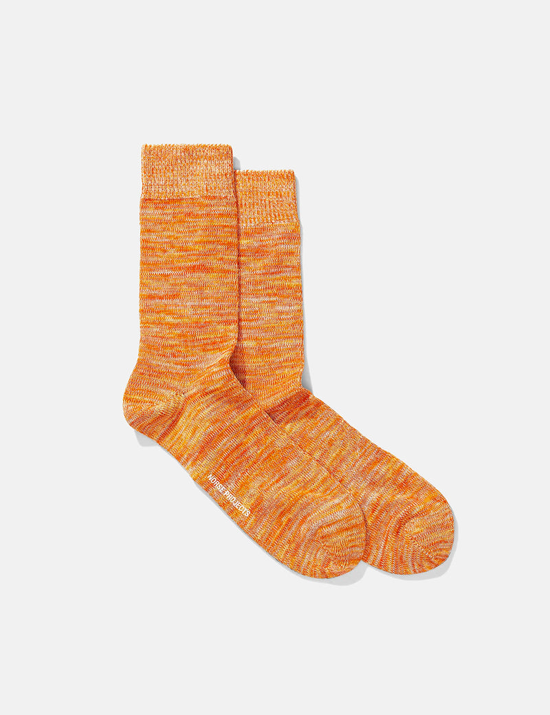 Norse Projects Bjarki Blend Socks - Golden Orange