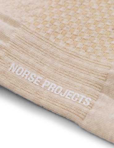 Norse Projects Bjarki Texture Socks (Honeycomb) - Natural
