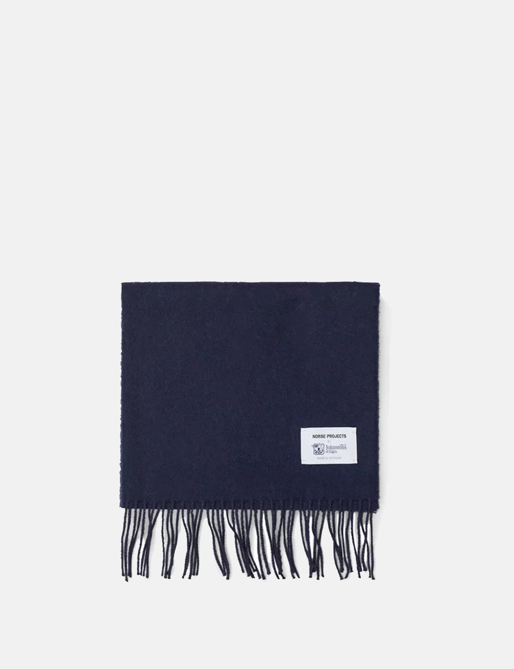 Norse Projects x Johnstons Lambswool Scarf - Dark Navy | URBAN EXCESS.