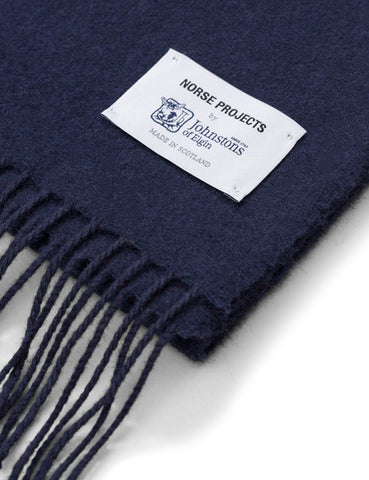 Norse Projects x Johnstons Lambswool Scarf - Dark Navy