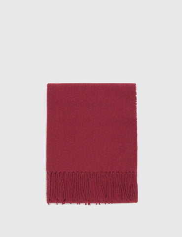 Norse Projects x Johnstons Lambswool Scarf - Red Clay