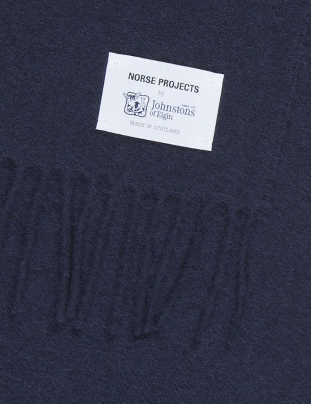 Norse Projects x Johnstons Lambswool Scarf - Navy