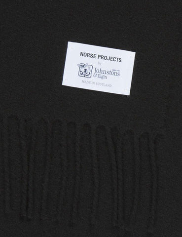 Norse Projects x Johnstons Lambswool Scarf - Black