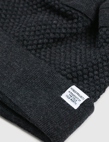 Norse Projects Bubble Beanie Hat - Charcoal Melange