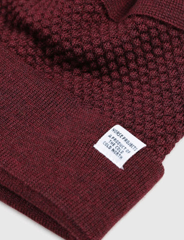 Norse Projects Bubble Beanie Hat - Red Clay