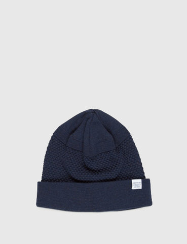 Norse Projects Bubble Beanie Hat - Navy