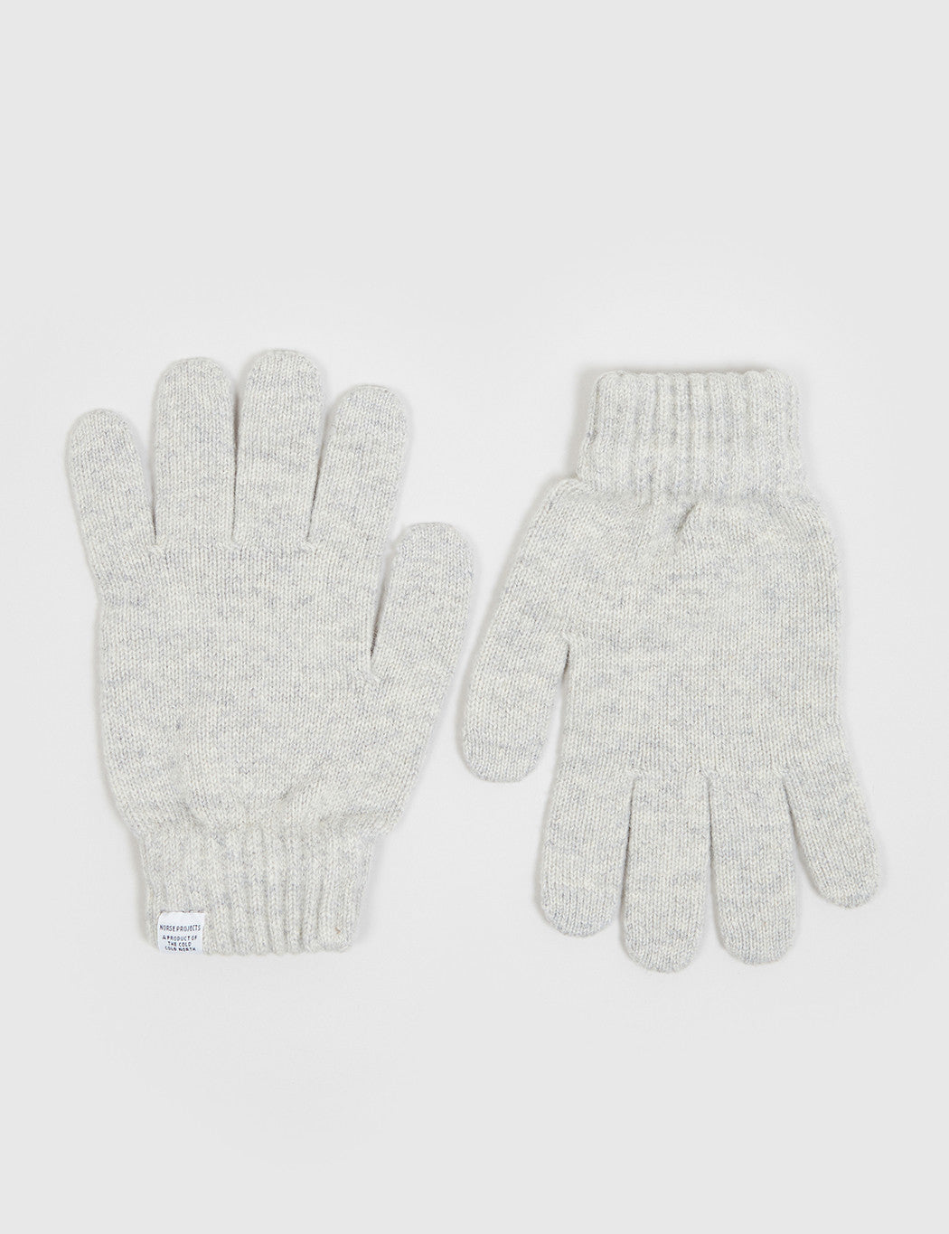 Norse Projects Norse Gloves - Light Grey Melange