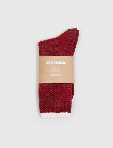 Norse Projects Bjarki Blend Socks - Red Clay