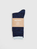 Norse Projects Bjarki Blend Socks - Cornflower Blue