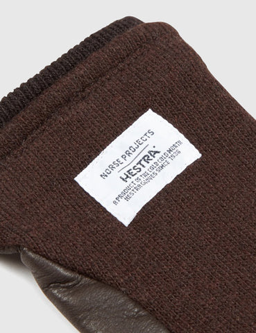 Norse Projects x Hestra Svante Sport Gloves (Leather) - Tobacco