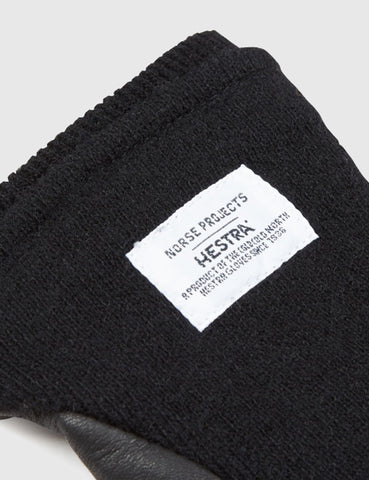 Norse Projects x Hestra Svante Sport Gloves (Leather) - Black