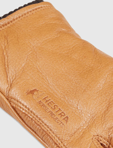 Norse Projects x Hestra Utsjö Sport Gloves (Leather) - Tobacco
