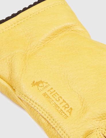 Norse Projects x Hestra Utsjö Sport Gloves (Leather) - Rapseed