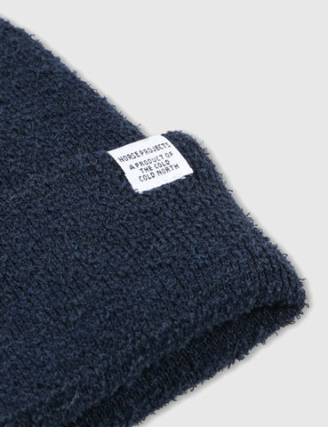 Norse Projects Norse Texture Beanie Hat - Navy